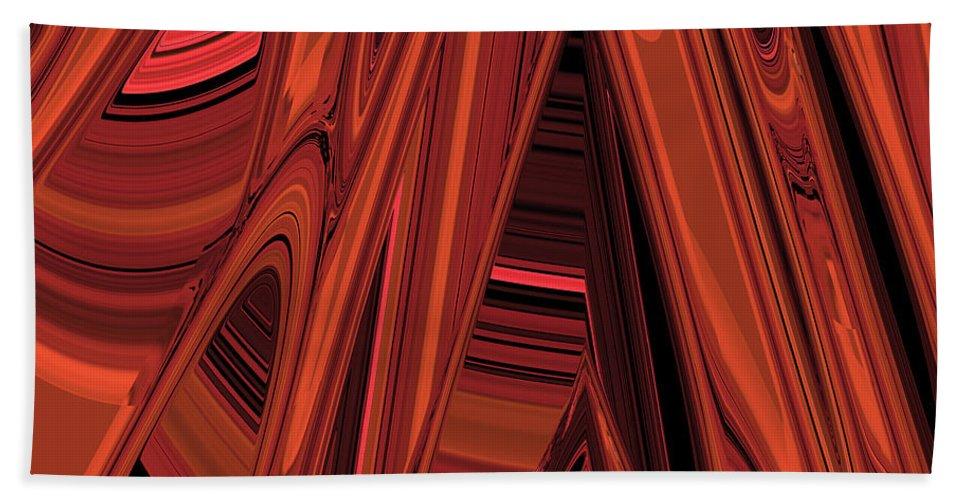 Arroyo Bath Sheet featuring the digital art Arroyo 2 by Judi Suni Hall