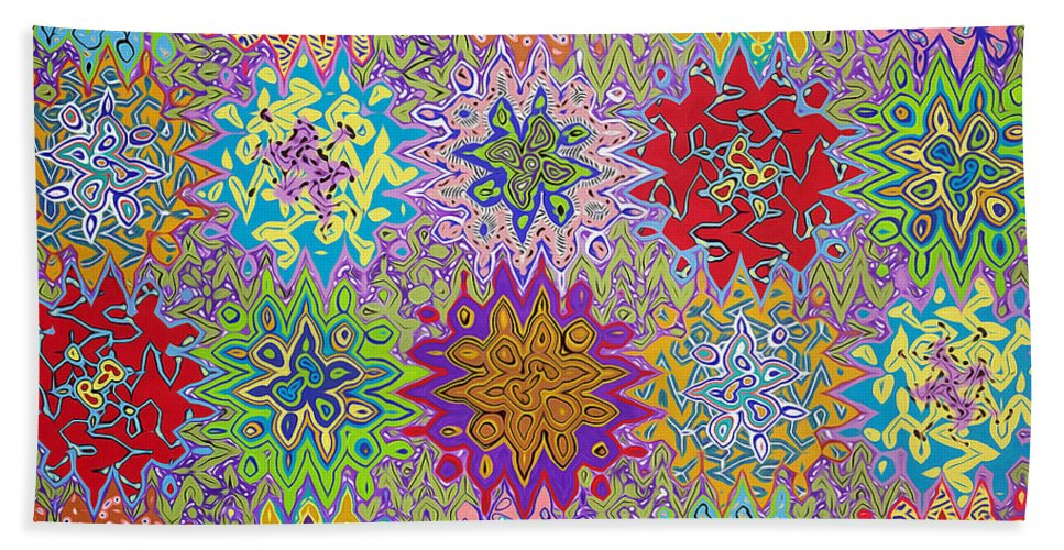 Art Bath Sheet featuring the painting Art Abstract Background 13 by Jeelan Clark
