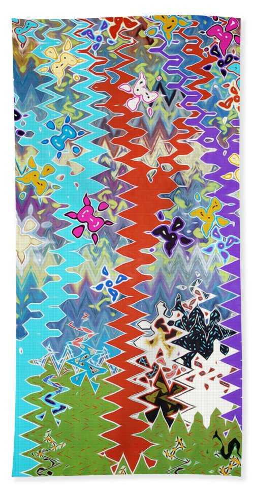 Art Bath Sheet featuring the painting Art Abstract Background 14 by Jeelan Clark