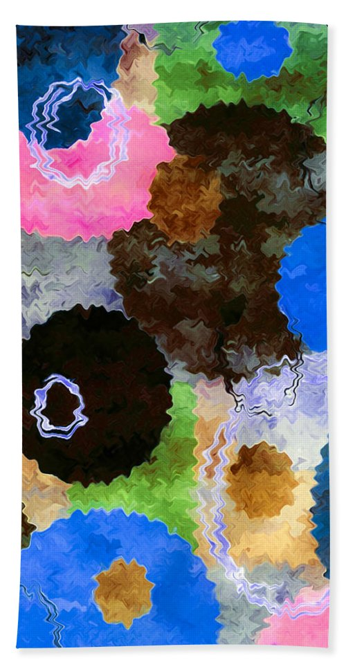 Art Bath Sheet featuring the painting Art Abstract Background 19 by Jeelan Clark