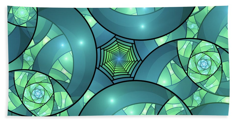 Bright Hand Towel featuring the digital art Art Deco by Gabiw Art