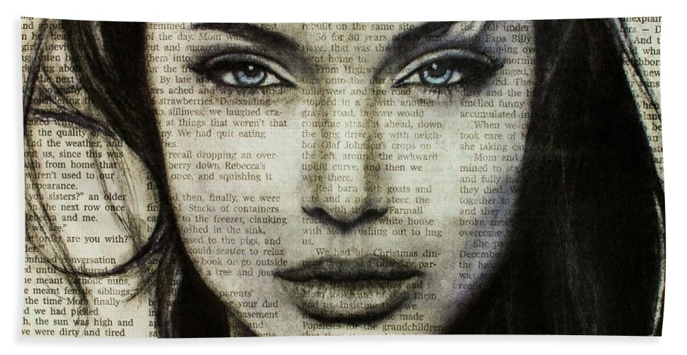 67208f32d5d9 Art In The News 44- Angelina Jolie Bath Towel for Sale by Michael Cross
