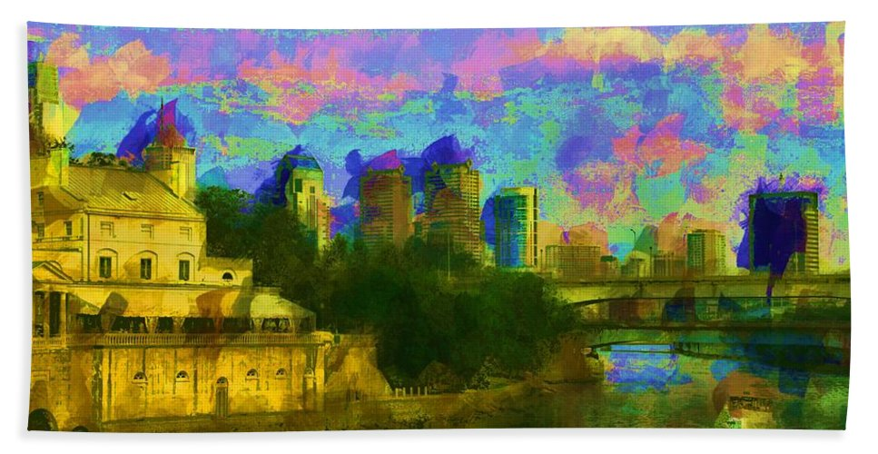 Art Museum Hand Towel featuring the photograph Art Museum Rhapsody by Alice Gipson