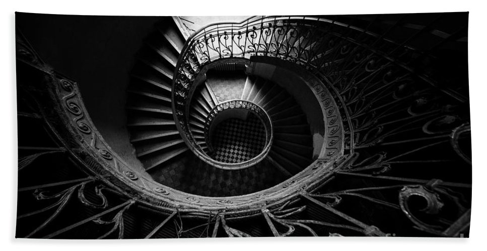 Architecture Hand Towel featuring the photograph Art Nouveau Staircase by Jaroslaw Blaminsky
