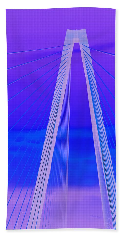 Bridge Bath Sheet featuring the photograph Arthur Ravenel Jr Bridge Iv by DigiArt Diaries by Vicky B Fuller