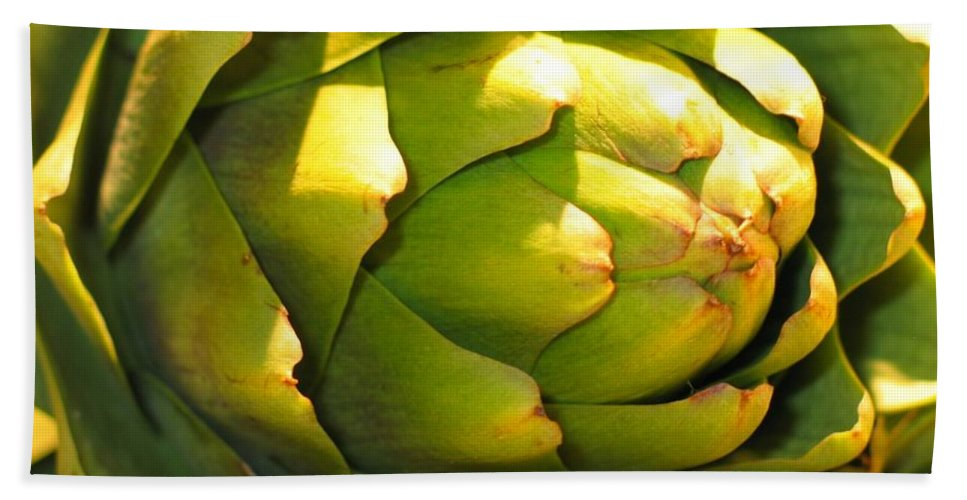 Artichoke Hand Towel featuring the photograph Artichoke by Jennifer Wheatley Wolf