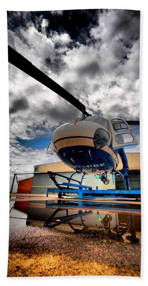 Eurocopter As350 Ecureuil (squirrel) Bath Sheet featuring the photograph Artistic Squirrel by Paul Job