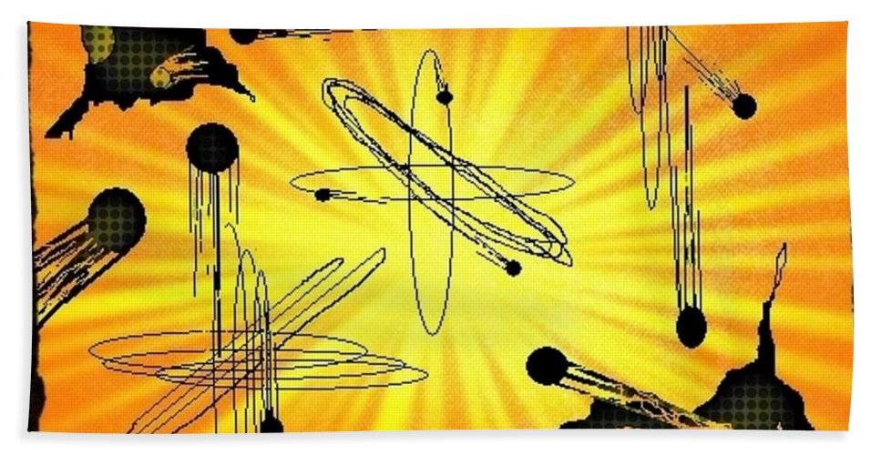 Abstract Art Hand Towel featuring the digital art As It Was In The Beginning Is Now And Ever Shall Be by John Malone