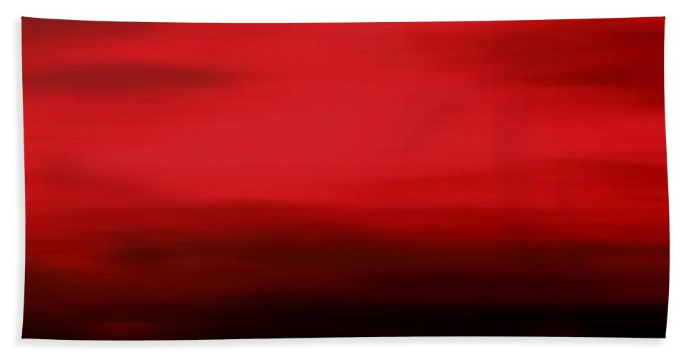 Evening Bath Sheet featuring the mixed media As The Evening Fades by Kume Bryant