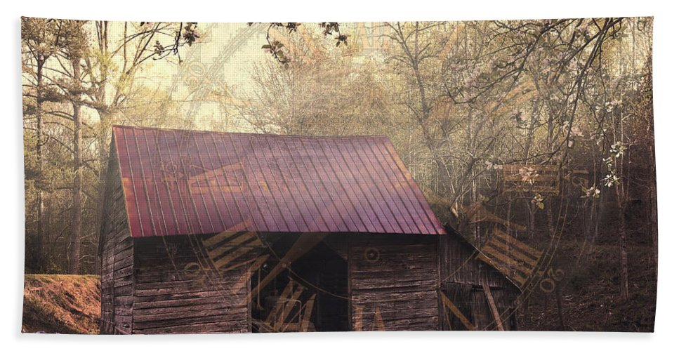 Appalachia Bath Sheet featuring the photograph As Time Goes By by Debra and Dave Vanderlaan