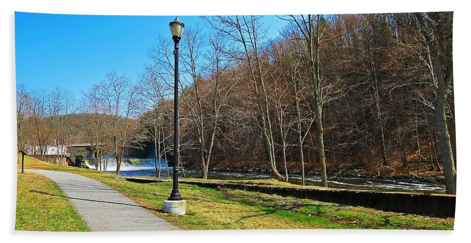 Ashuelot River Bath Sheet featuring the photograph Ashuelot River In Hinsdale by MTBobbins Photography