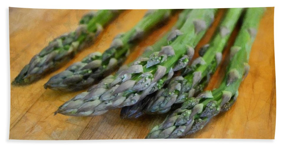 Vegetables Hand Towel featuring the photograph Asparagus by Michelle Calkins