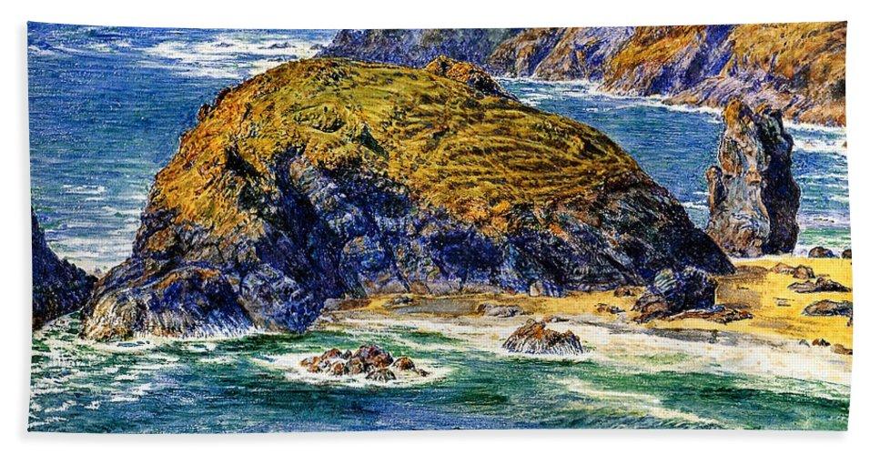 William Holman Hunt Bath Sheet featuring the digital art Aspargus Island by William Holman Hunt