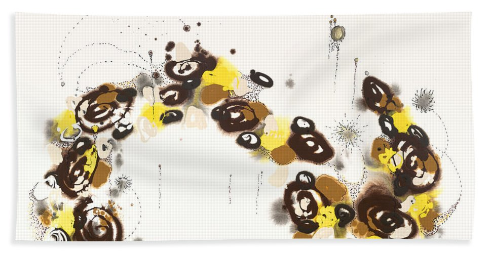 Aspen Hand Towel featuring the painting Aspen Celebration #3 by Nadine Rippelmeyer