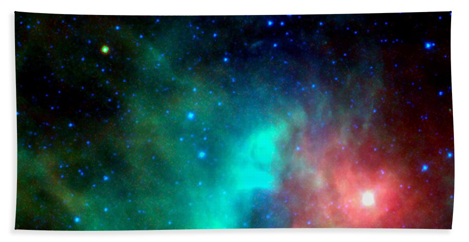 Asteroid Bath Sheet featuring the photograph Asteroid Zips By Orion Nebula by Rose Santuci-Sofranko