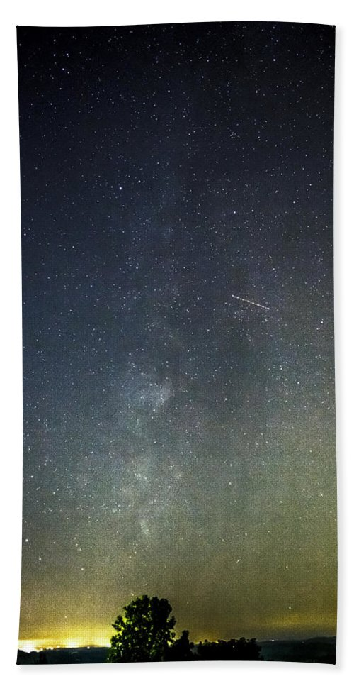 Milky Hand Towel featuring the photograph Astro Photography Milky Way by Tim Buisman