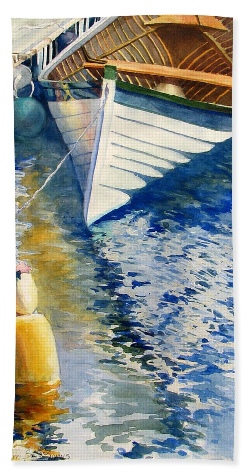 Nature Hand Towel featuring the painting At Rest by Sherri Bails