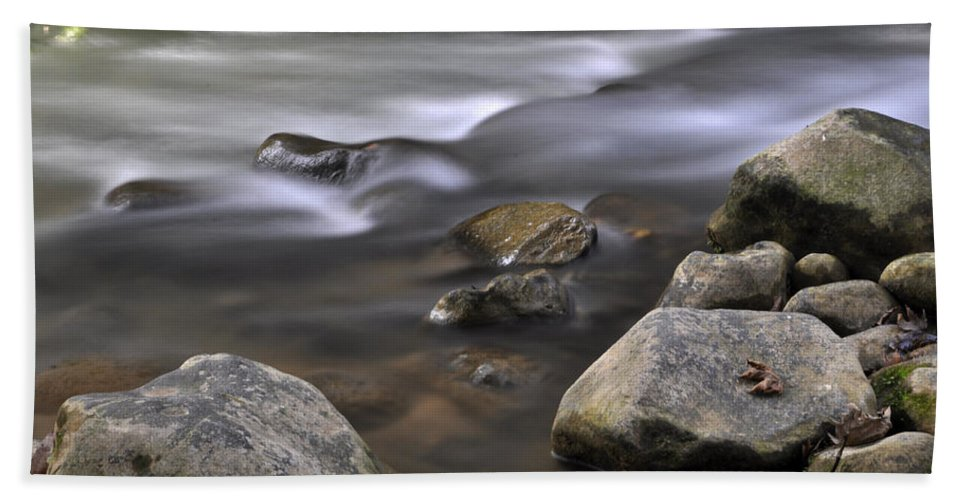Water Bath Sheet featuring the photograph At The Banias River 3 by Dubi Roman