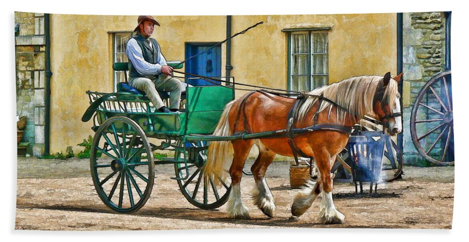 Horse Bath Sheet featuring the photograph At The Blacksmiths by Paul Gulliver