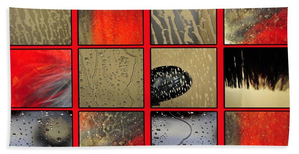 Abstract Bath Sheet featuring the photograph At The Car Wash by Randi Grace Nilsberg