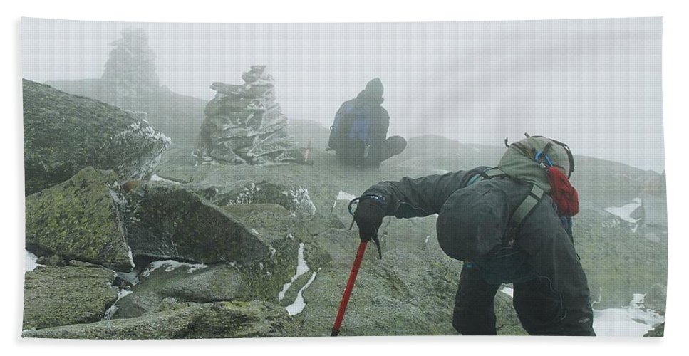 Mt Washington Hand Towel featuring the photograph At The Pinnacle Of Choice by Jim Cook