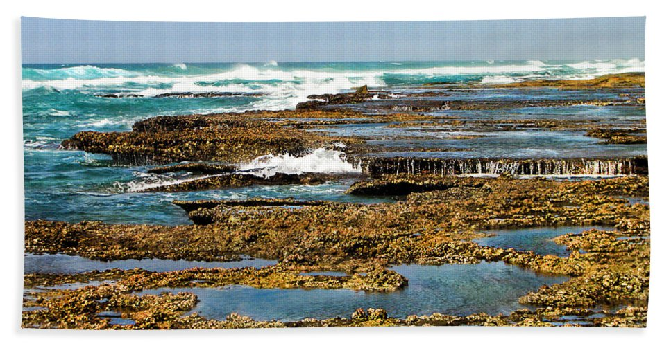 Sea Bath Sheet featuring the photograph At The Sea by Ronel Broderick