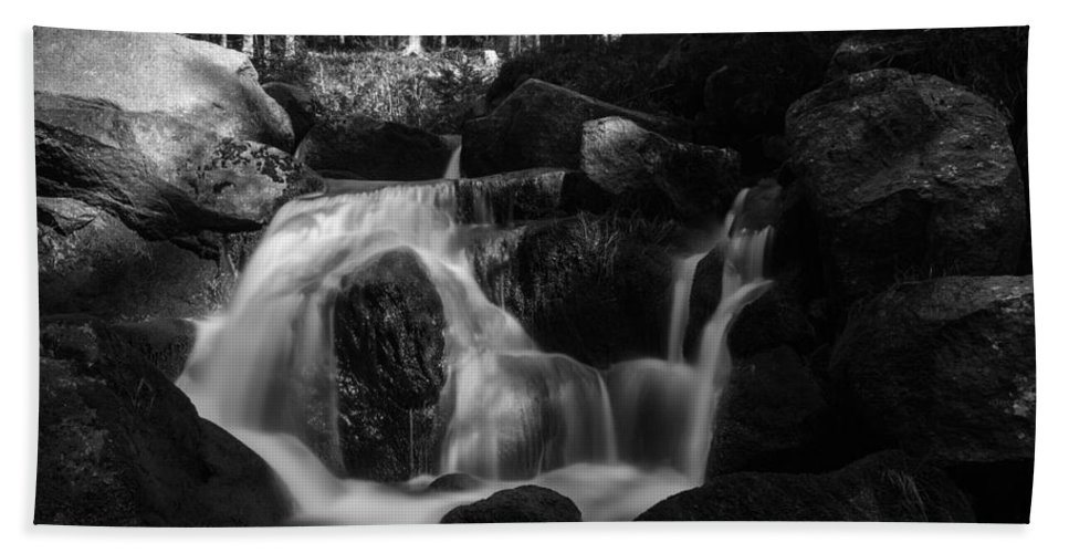 Bode Bath Sheet featuring the photograph at the upper Bodefall, Harz by Andreas Levi