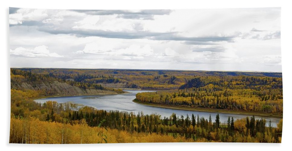 River Hand Towel featuring the photograph Athabasca Fall by Alanna DPhoto