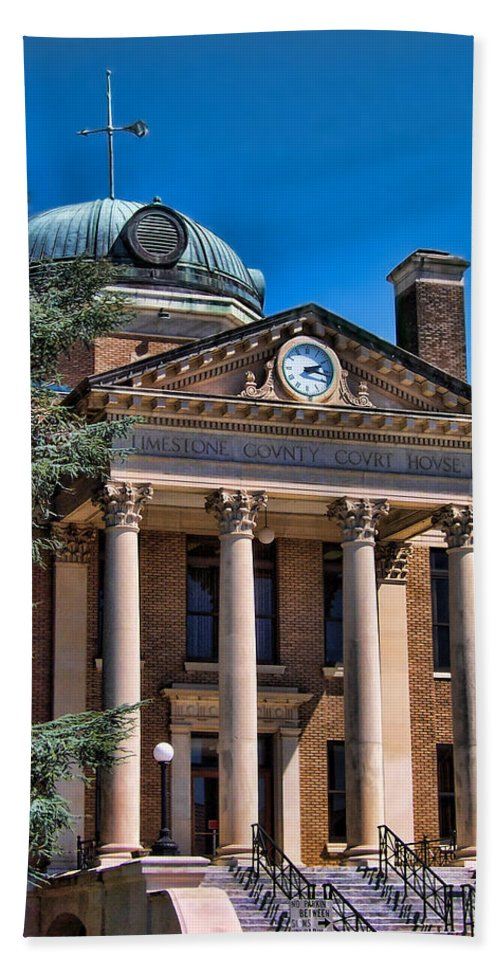 Historical Bath Sheet featuring the photograph Athens Alabama Historical Courthouse by Kathy Clark