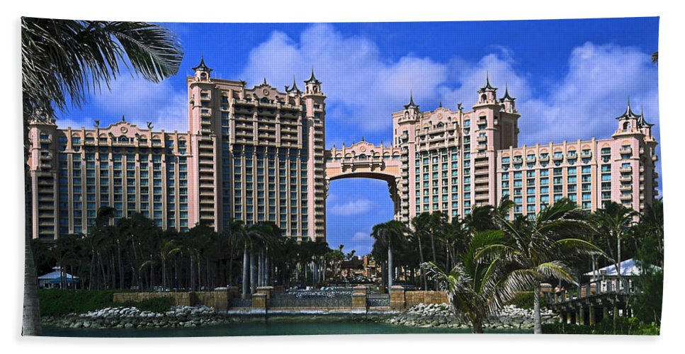 Royal Towers Bath Sheet featuring the photograph Atlantis by Sally Weigand