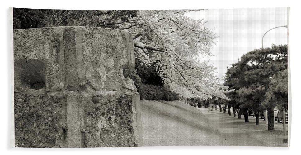 Cherry Hand Towel featuring the photograph Atsugi Pillbox Walk F by Jay Mann