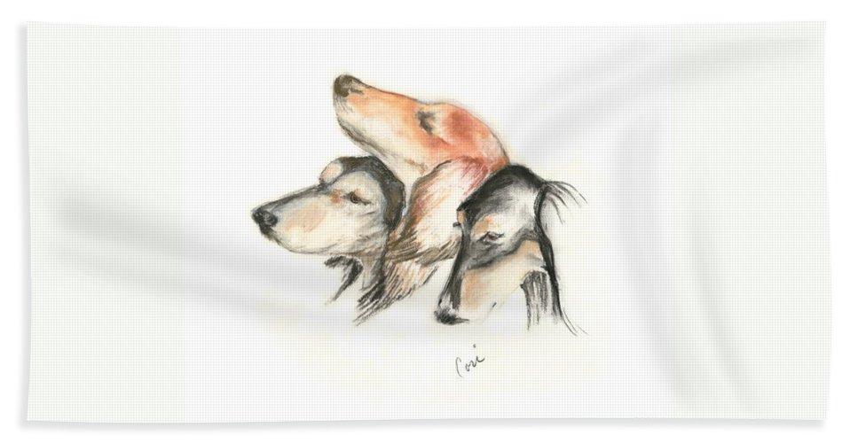 Dog Bath Sheet featuring the drawing Attitude by Cori Solomon