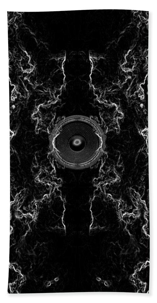 Festival Hand Towel featuring the digital art Audio Mono by Steve Ball