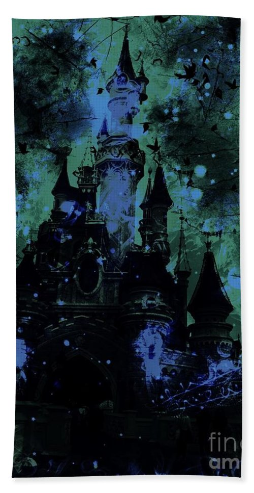 Sleeping Beauty Castle Hand Towel featuring the digital art Aurora's Nightmare by Marina McLain