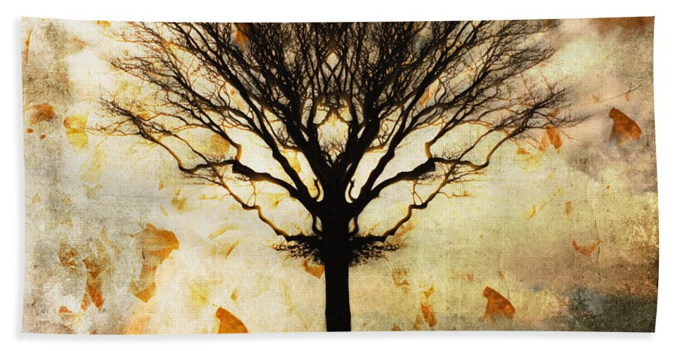 Nag004060 Hand Towel featuring the photograph Autum Wind by Edmund Nagele