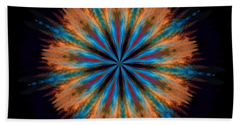 Kaleidoscope Bath Sheet featuring the photograph Autumn Afternoon 06 by Sylvia Thornton