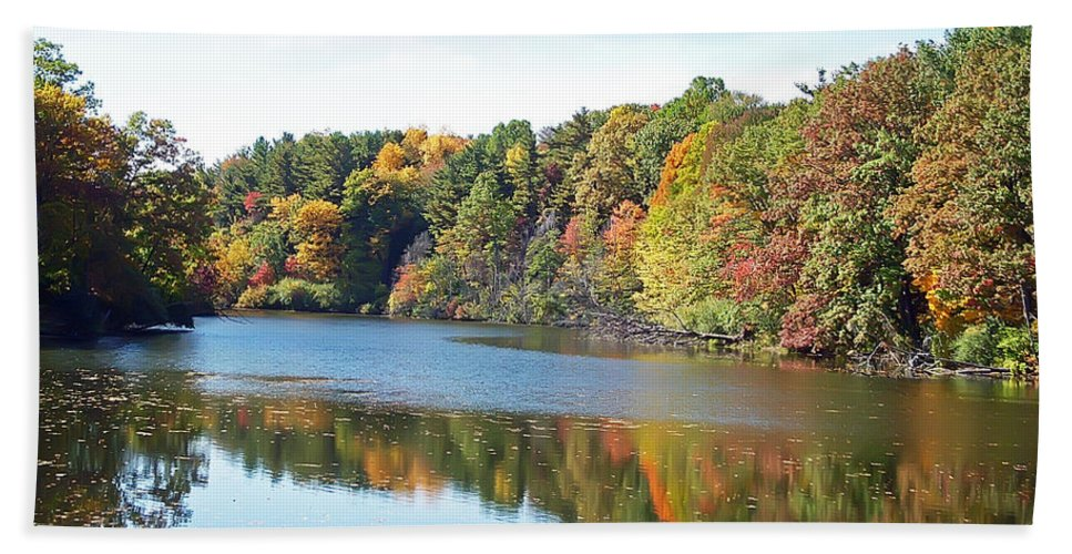 Durand Eastman Park Bath Towel featuring the photograph Autumn At Durand by Aimee L Maher ALM GALLERY