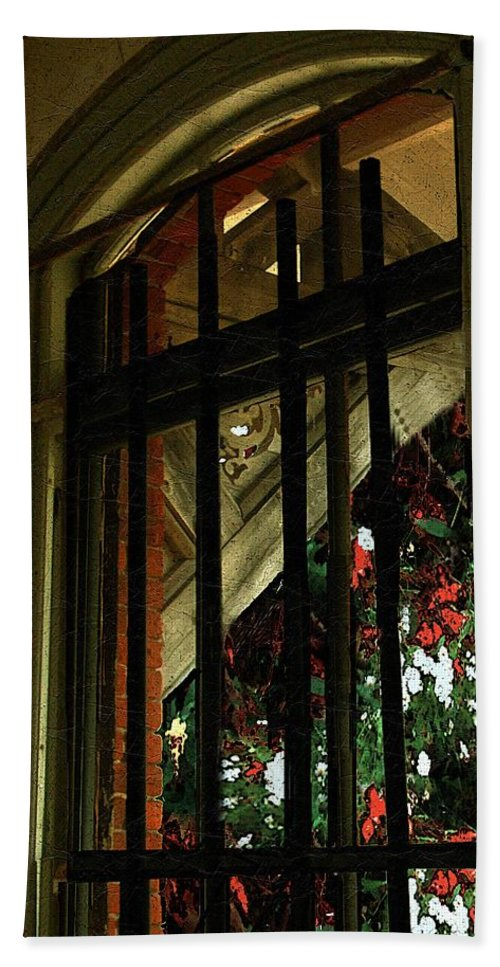 Window Bath Sheet featuring the painting Autumn At The Old Sanitarium by RC DeWinter