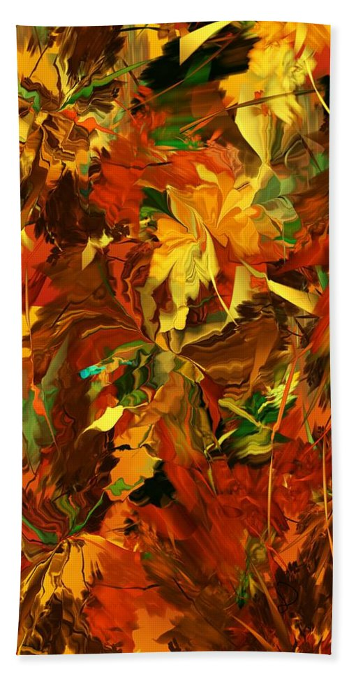 Fine Art Bath Sheet featuring the digital art Autumn Burst by David Lane