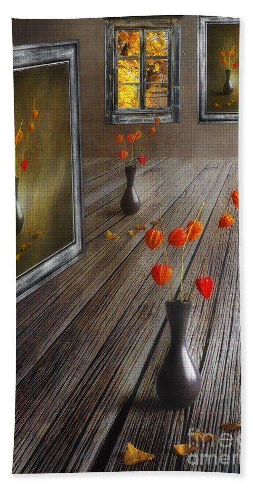 Art Bath Sheet featuring the photograph Autumn Colours by Veikko Suikkanen