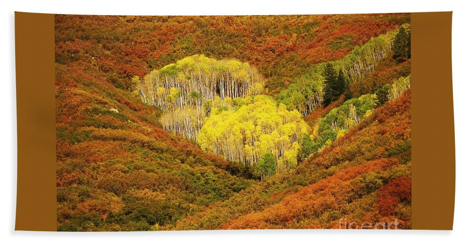 Mountains Bath Sheet featuring the photograph Autumn Crest by Jewell McChesney