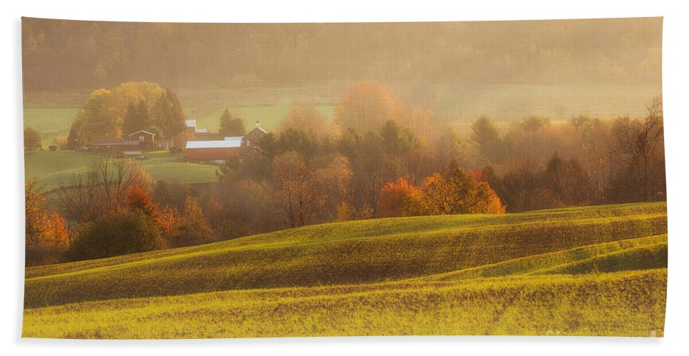 Michele Hand Towel featuring the photograph Autumn Fields by Michele Steffey