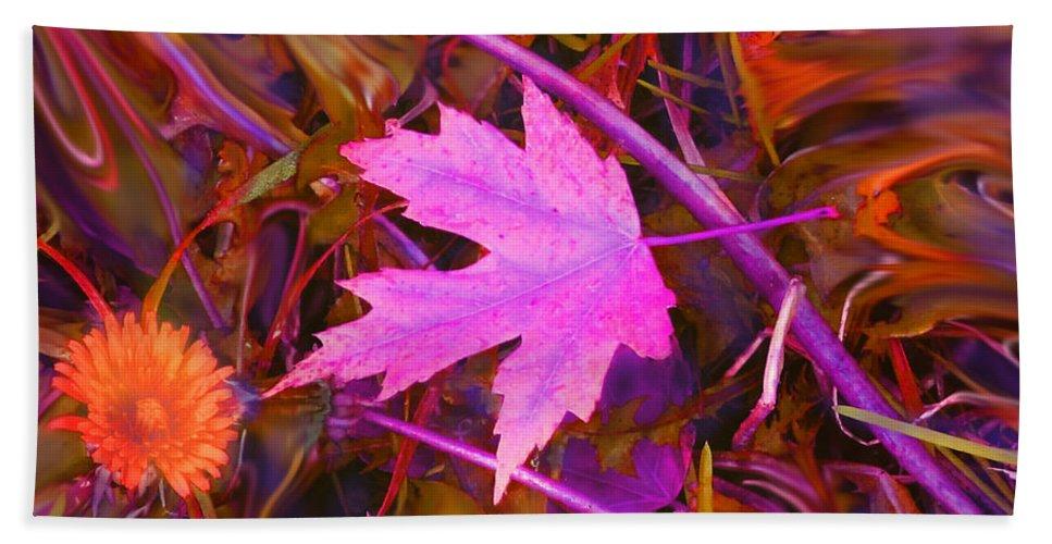 Fire Bath Sheet featuring the digital art Autumn Fire by Ian MacDonald