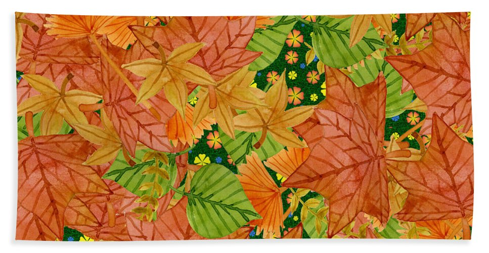 Autumn Bath Sheet featuring the digital art Autumn Floor by Gaspar Avila