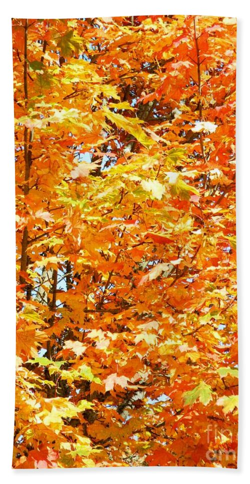 Autumn Fury Hand Towel featuring the photograph Autumn Fury by Chalet Roome-Rigdon
