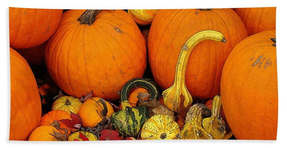 Fine Art Hand Towel featuring the photograph Autumn Harvest 5 by Rodney Lee Williams