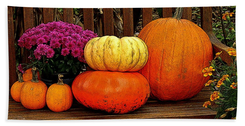 Fine Art Hand Towel featuring the photograph Autumn Harvest by Rodney Lee Williams