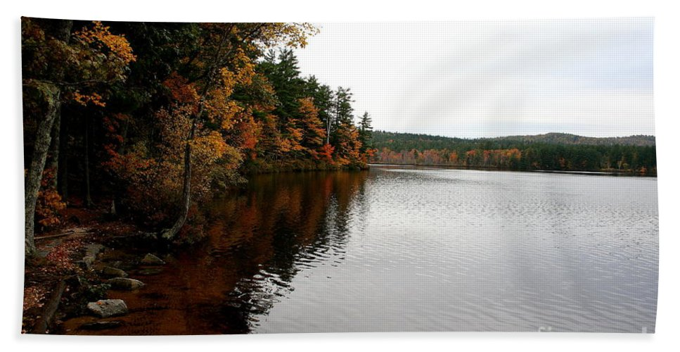 Autumn Bath Sheet featuring the photograph Autumn In Maine by Christiane Schulze Art And Photography