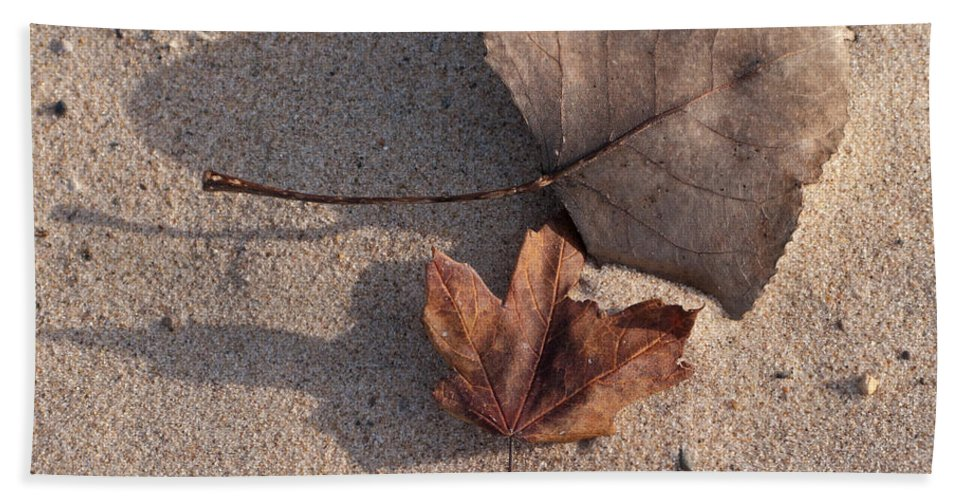 Leaf Bath Sheet featuring the photograph Autumn Leftovers by Ann Horn