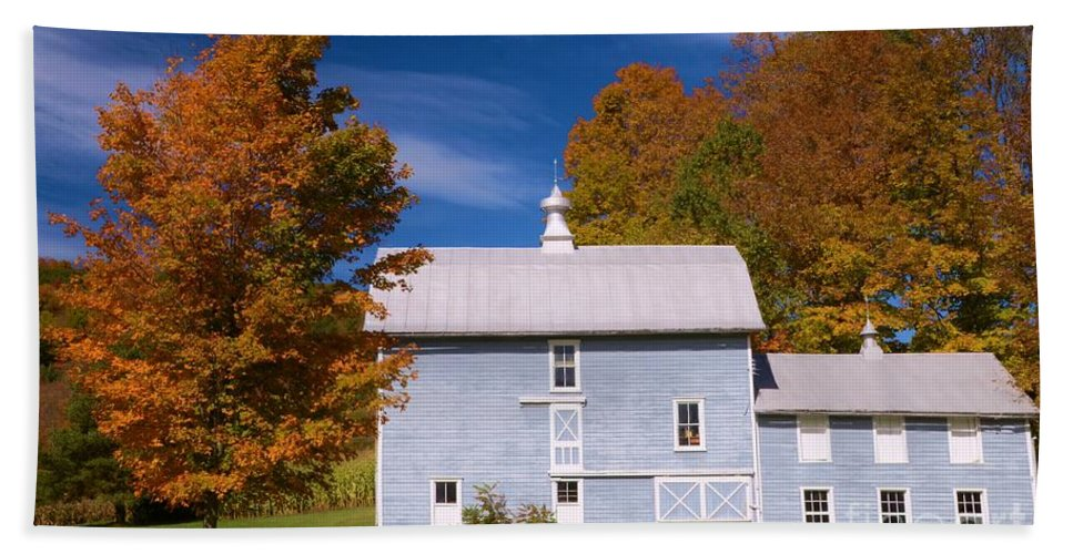 #barn Hand Towel featuring the photograph Autumn On The Farm by Kathleen Struckle